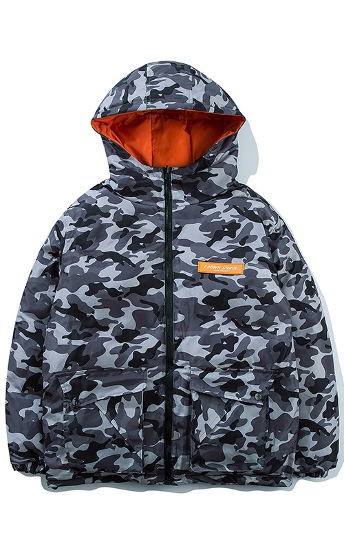 CROWN CRADE DOWN JACKET CAMO / ORANGE (2 SIDED)