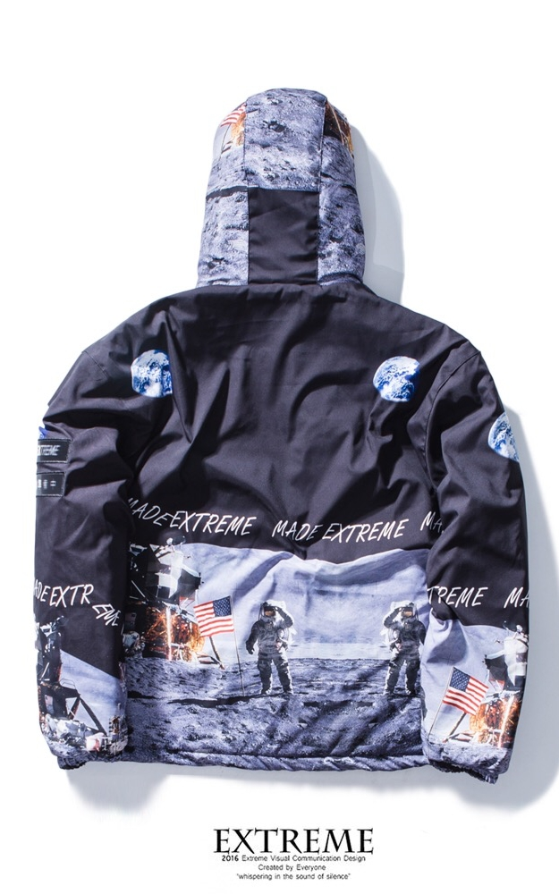 EXTREME DOWN JACKET ASTRONAUL WITH HOOD BLACK