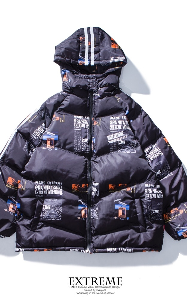 EXTREME DOWN JACKET WITH HOOD BLACK
