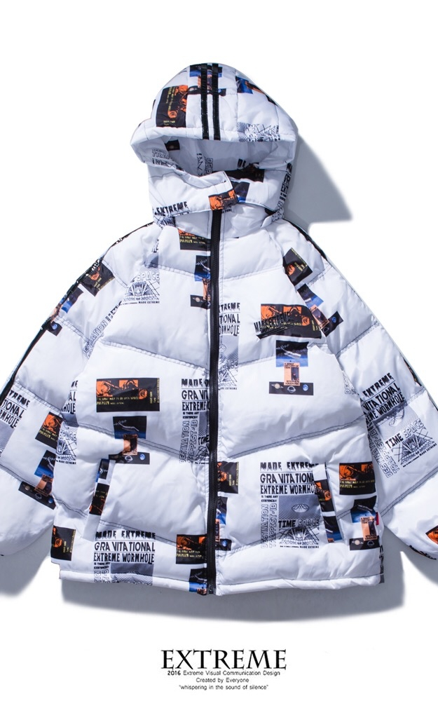EXTREME DOWN JACKET WITH HOOD WHITE